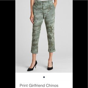 Size 2 Gap girlfriend ankle length olive chino